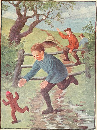 The Gingerbread Man - 1918 illustration for the tale