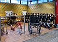 Wheelchairs for visitors at the entrance - NÄL hospital 1.jpg