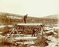 Whipsawing lumber probably in the Yukon Territory, ca 1898 (MEED 11).jpg