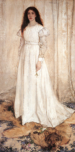L'Origine du monde - Symphony in White, No. 1: The White Girl by James Whistler, another painting of Joanna Hiffernan