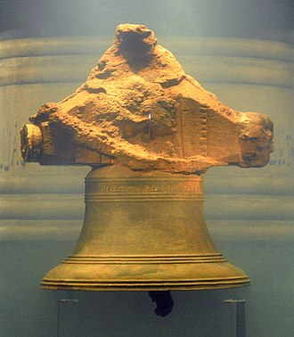 "Whydah Gally - The bell, inscribed, ""THE WHYDAH GALLY 1716"""