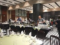 Wikimania 2015-Thursday-Food for hungry Hackathon people (19).jpg
