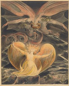 William Blake - The Great Red Dragon and the Woman Clothed with the Sun - Google Art Project