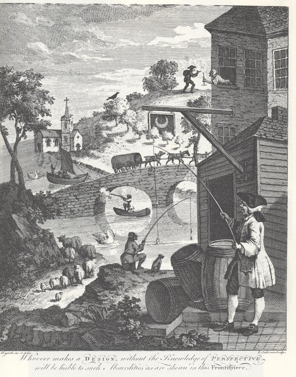 William Hogarth - Absurd perspectives