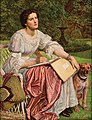 William Holman Hunt, Miss Gladis M. Holman Hunt (The School of Nature). Oil on panel, 122.5 x 982 cm. San Juan de Puerto Rico, Museo de Arte de Ponce.jpg