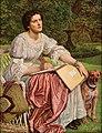 William Holman Hunt, Miss Gladis M. Holman Hunt (The School of Nature). Oil on panel, 122.5 x 982 cm. San Juan de Puerto Rico, Museo de Arte de Ponce.jpg