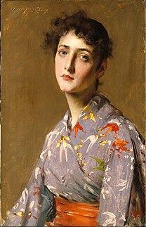 CHASE William Merritt Girl in a Japanese Costume 1890
