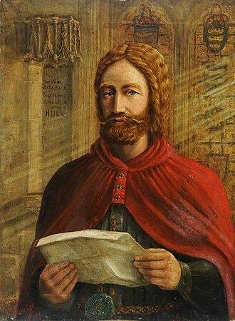 William de la Pole (Chief Baron of the Exchequer) - 1880 portrait of de la Pole by Thomas Tindall Wildridge