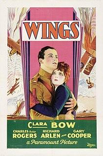 <i>Wings</i> (1927 film) 1927 film by William A. Wellman, Harry d'Abbadie d'Arrast