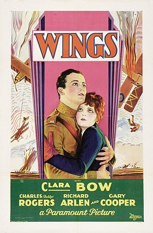 1st Academy Awards - Image: Wings poster