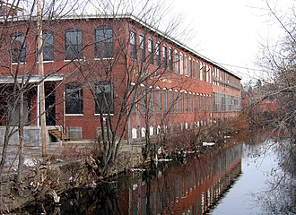 Woonasquatucket River - The Woonasquatucket River in the Olneyville neighborhood of Providence
