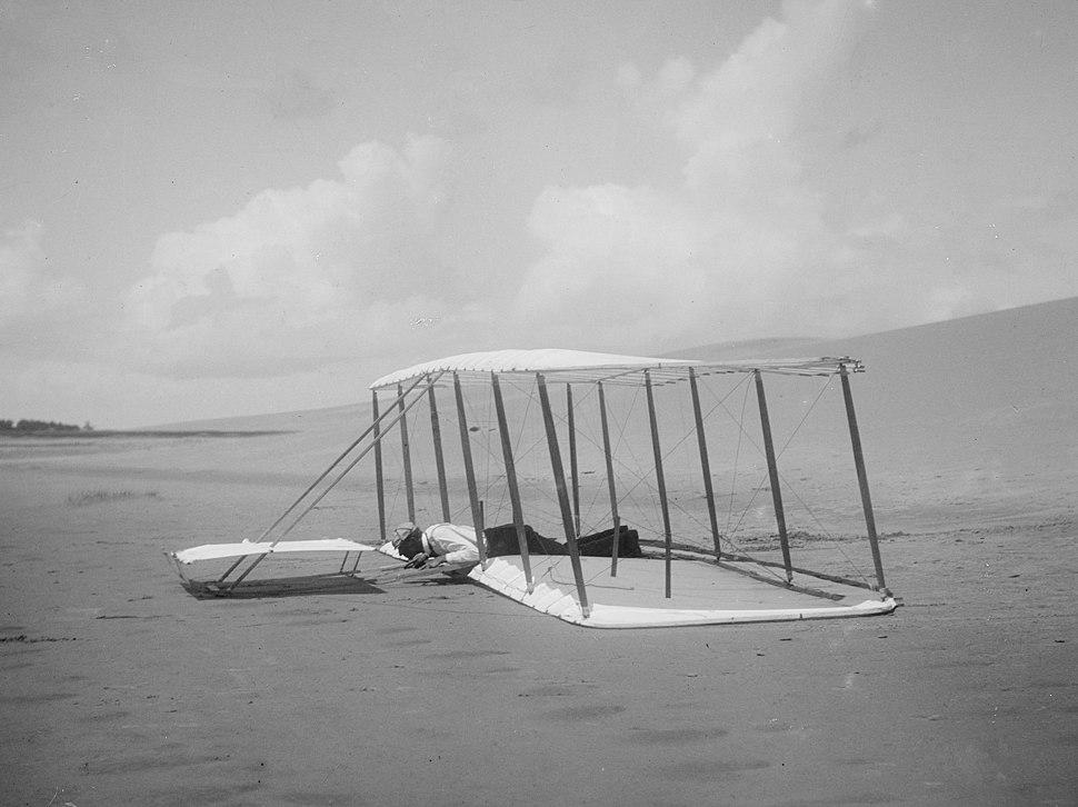Wright 1901 glider landing