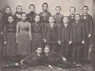 Września - Children from Września who participated in the school strike in response to the banning of the Polish language.
