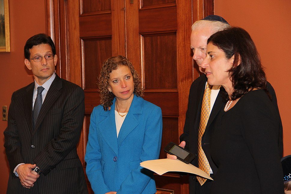 Wultz Family with Reps. Eric Cantor and Debbie Wasserman Schultz