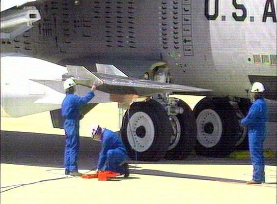 X-43A technicians