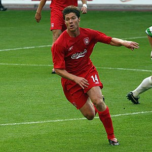 Xabi Alonso - Alonso playing against The New Saints in the Champions League in July 2005.