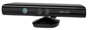 The Microsoft Kinect peripheral for the Xbox 360.
