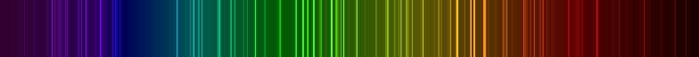 Xenon line spectrum