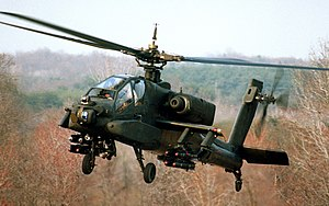 Advanced Attack Helicopter - A YAH-64A during a demonstration flight in 1982