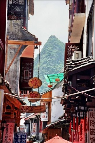 Yangshuo County - The town of Yangshuo