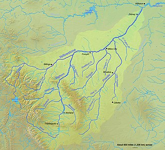 ExxonMobil - Map of the Yellowstone River watershed