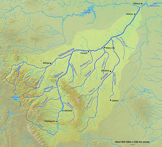 tongue river wyoming map Tongue River Montana Wikiwand