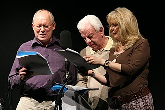 Hamish and Dougal - Garden, Cryer and Steadman during a recording of the programme in 2006.
