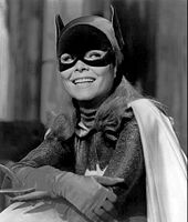 Yvonne Craig poses in the Batgirl costume from the 1960s television show