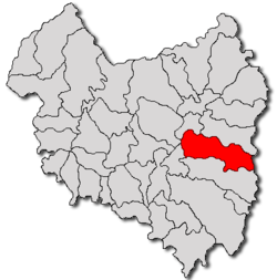 Location of Zăbala