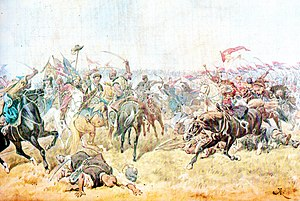 Battle of Zboriv (1649) - Battle of Zborów. Juliusz Kossak. 1897