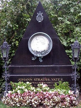 Johann Strauss I - Grave of Johann Strauss I, Zentralfriedhof, Vienna, Austria