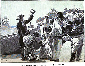 Bartholomäus Ziegenbalg - Ziegenbalg Leaving Tranquebar (p.170, 1890), London Missionary Society