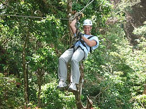 English: Zip Line Canopy tour in Jaco Beach. O...