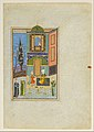 """Bahram Gur in the Green Palace on Monday"", Folio from a Khamsa (Quintet) of Nizami MET DP164645.jpg"