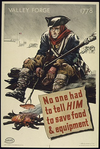 Valley Forge - World War II propaganda poster