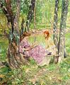 'Two Women in a Garden' by Francis Coates Jones.jpg