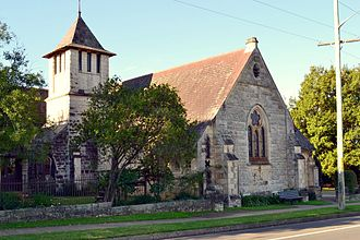 Springwood, New South Wales - Image: (1)Christ Church Springwood 1