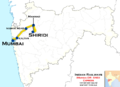 (Shiridi - Mumbai) Express (via Manmad) Route map.png