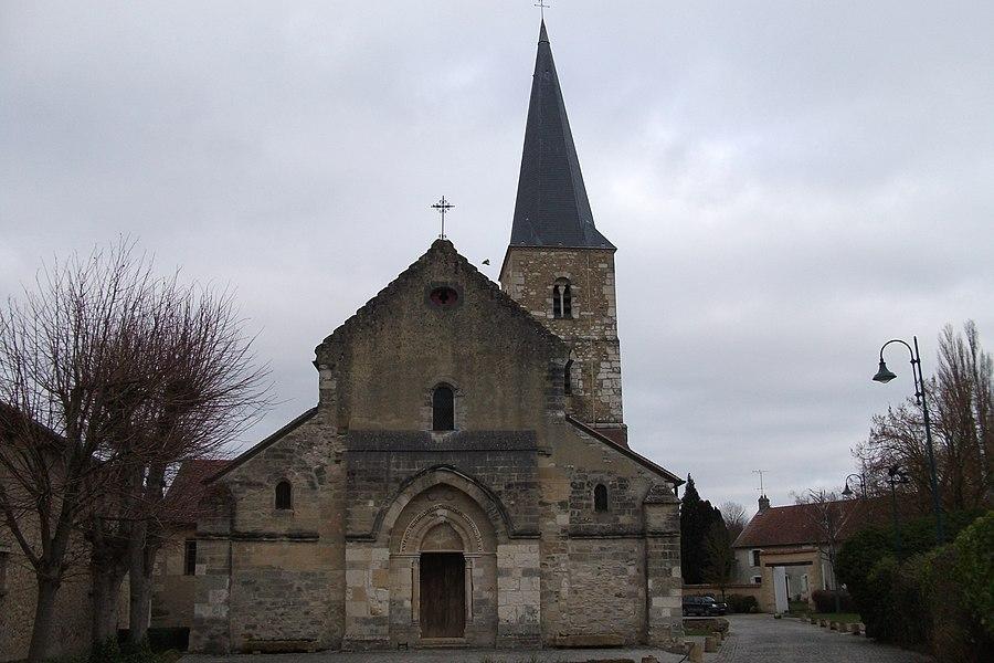 L'église_de Bezannes, vue du portail ouest.