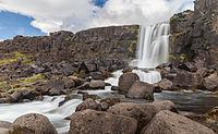 Öxarárfoss, Taman Nasional Þingvellir, Suðurland, Islandia.