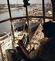 Újpesti-öböl, a Magyar Hajó- és Darugyár Angyalföldi Gyáregysége egy daru fülkéjéből nézve. Fortepan 26407.jpg