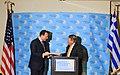 Ομιλία ΥΠΕΞ κ. Δ. Δρούτσα στο φόρουμ διεθνών σχέσεων World Affairs Council (5038075605).jpg