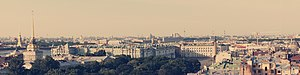 Вид с Исакиевского собора на центр Санкт-Петербурга. 2 июля 2011.jpg