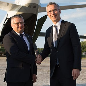 "Ukroboronprom - Meeting of NATO Secretary General Jens Stoltenberg with the head of ""Ukroboronprom"" Roman Romanov, July 2017"