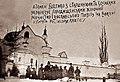 Городищенський монастир. Загін отамана Йосипа Біденка палить російські книжки.jpg