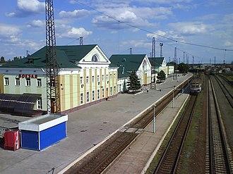 Lyman, Ukraine - Railway station