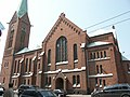 Латвия (Latvija), Рига (Rīga), ул.Свободы (Brīvības iela),119 (Sv. Jaunā Ģertrūdes lut. baznīca), 14-19 10.07.2006 - panoramio.jpg