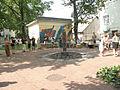 Латвия (Latvija), Цесис район (Cēsu rajons), Цесис (Cēsis), Центр (Centrs) (Raunas (^) iela), танцы, 15-50 09.07.2006 - panoramio.jpg