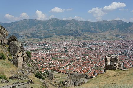 Prilep seen from Marko's Towers