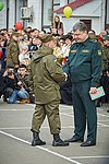 Президент України Петро Порошенко привітав молодих офіцерів з випуском 419 (16919793676).jpg